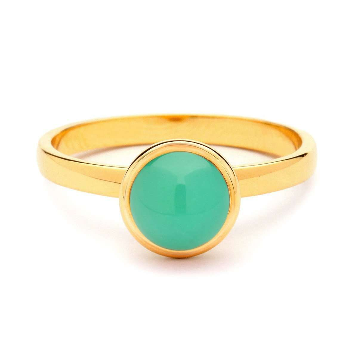 18kt Small Chrysoprase Bauble Ring-Syna-JewelStreet US