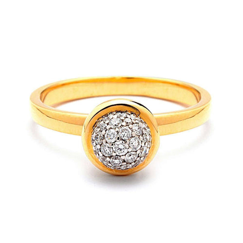 18kt Diamond Bauble Ring-Syna-JewelStreet US