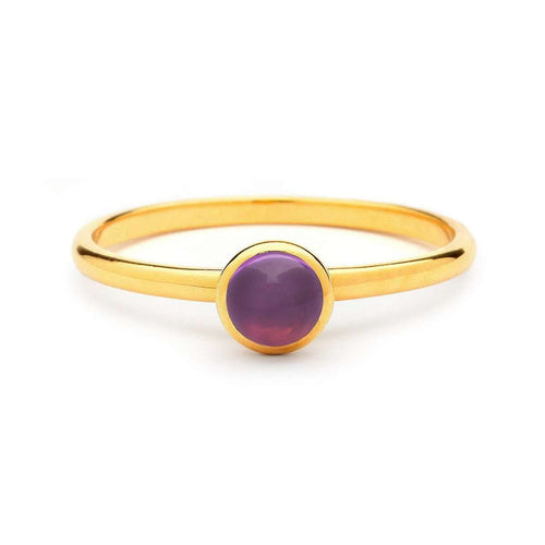 18kt Mini Amethyst Ring-Syna-JewelStreet US