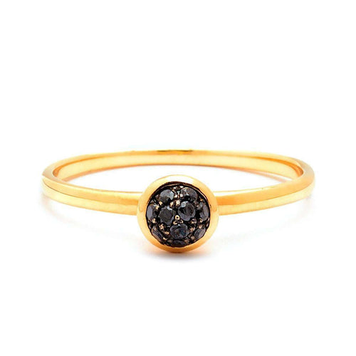 18kt Mini Black Diamond Ring-Syna-JewelStreet US