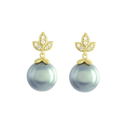 Eden Tahitian Pearl Earrings-Joely Rae Jewelry-JewelStreet US