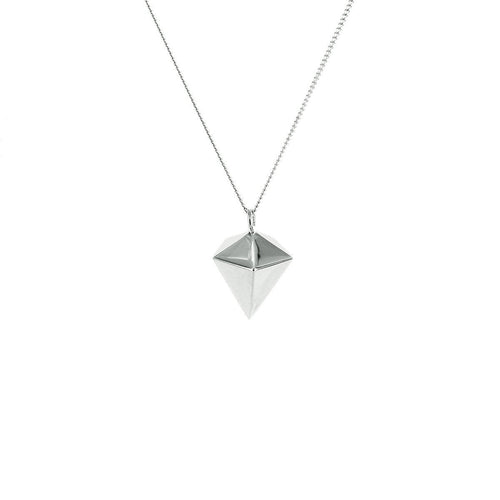Sterling Silver Mini Decagem Origami Necklace