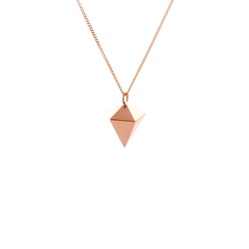 Sterling Silver & Pink Gold Mini Decagem Origami Necklace