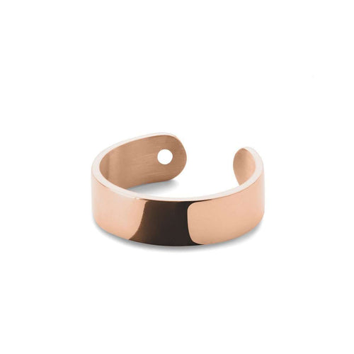 Duo Midi Ring in Shiny Rose Gold Plated-EKRIA-JewelStreet US