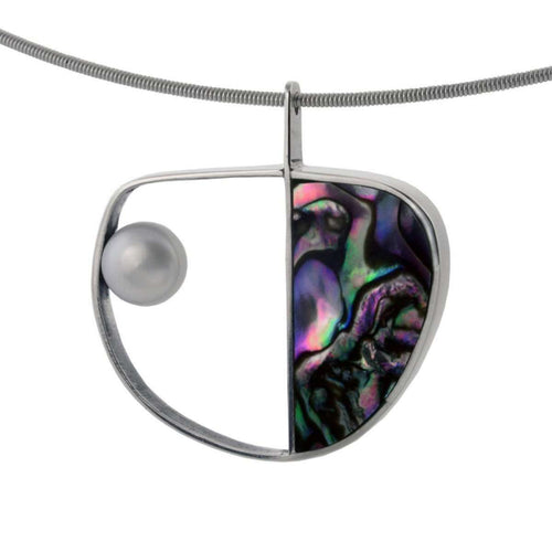 Abalone And Pearl Necklace-Jan D-JewelStreet US