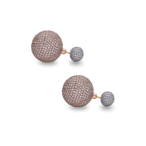 Suave Diamond Gold Ball Earring-Socheec-JewelStreet US