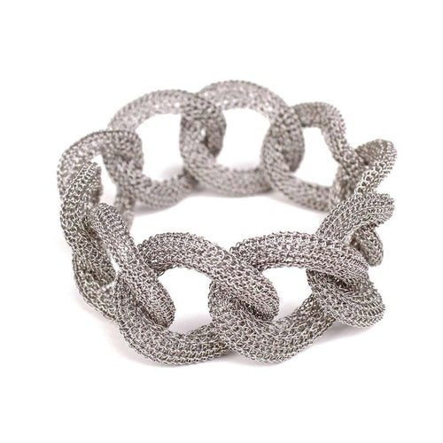Goddess Light Link Twist White Gold Bracelet-Tove Rygg-JewelStreet US