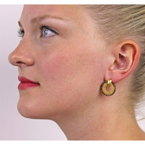 Goddess Sun Link Earrings-Tove Rygg-JewelStreet US