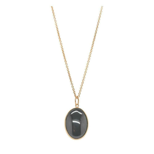 Rose Gold and Onyx Victoriana Necklace-Purnell-JewelStreet US