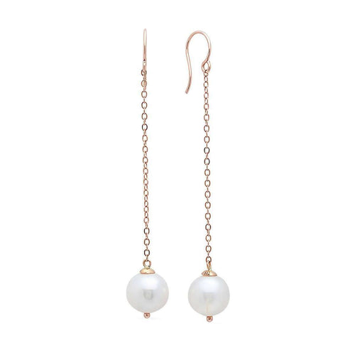 Viola Gold Pearl Drop Earrings-Victoria Six-JewelStreet US