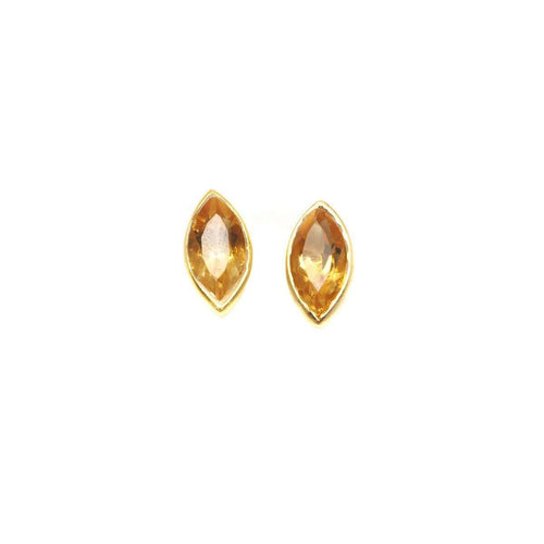 Willow Citrine Studs-Willow and Clo-JewelStreet US
