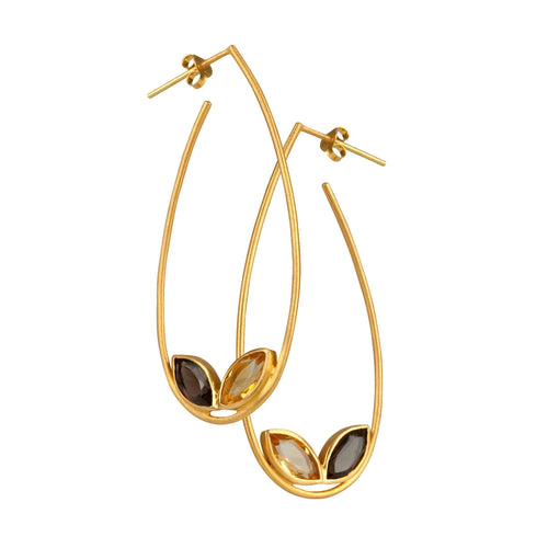 Willow Hoops Smoky Shade-Willow and Clo-JewelStreet US