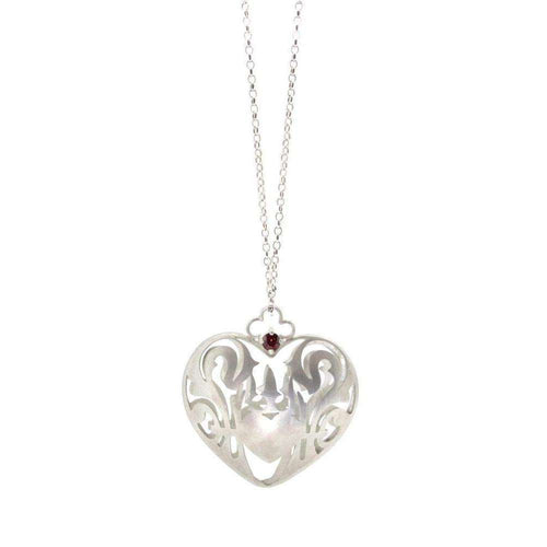 Wonderland Royal Crest Heart Necklace-Sian Bostwick Jewellery-JewelStreet US