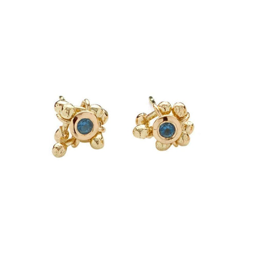 Enchantment Topaz Cluster Earrings-Yen Jewellery-JewelStreet US