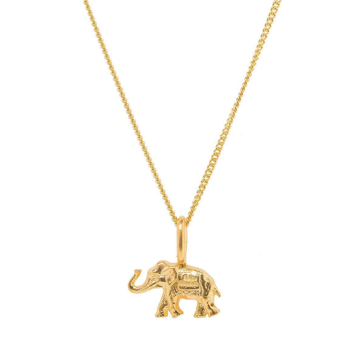 Elephant Gold Plated Charm-Katie Mullally-JewelStreet US