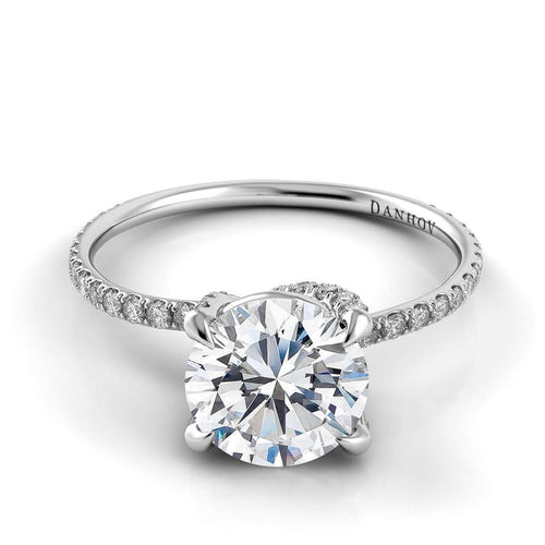 Danhov Eleganza Single Shank Engagement Ring-Danhov-JewelStreet US