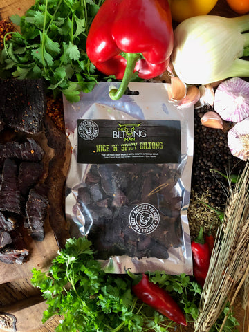 The Biltong Man - Nice 'n' Spicy Biltong 100g - 5 Pack Multi Buy
