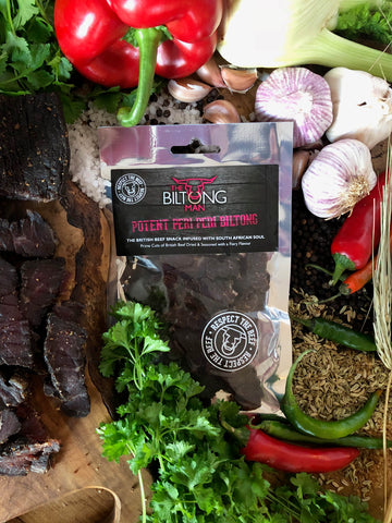 The Biltong Man - Potent Peri Peri Biltong 50g - 5 Pack Multi Buy