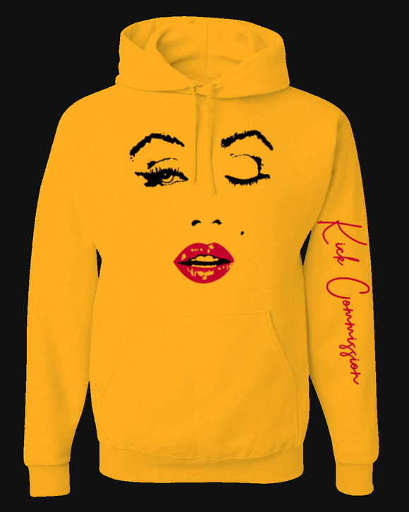 M.M. Kiss Pullover Hoodie