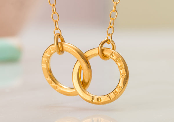 Make gifts personal with Posh Totty's Double Hoop Necklace