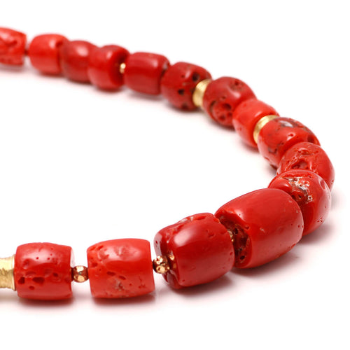 18kt Yellow Gold Sardinia Coral Necklace ,[product vendor],JewelStreet