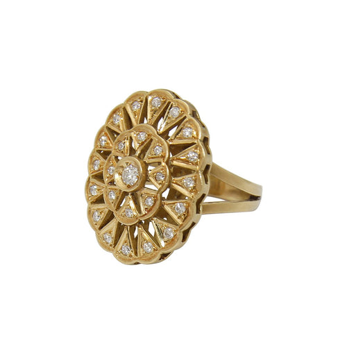 Lotus 18kt Yellow Gold Ring