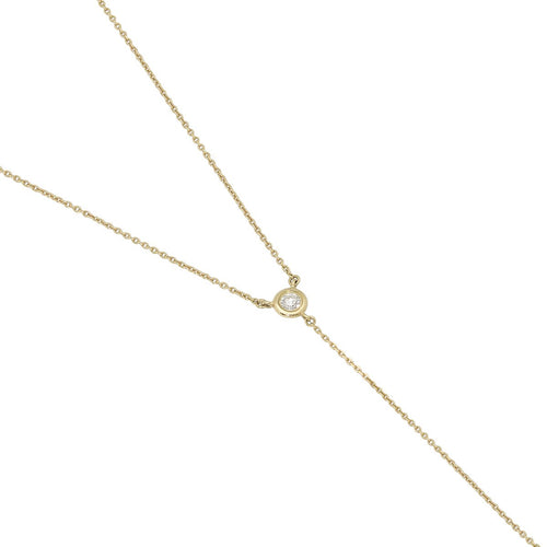 Diamond Tie Necklace