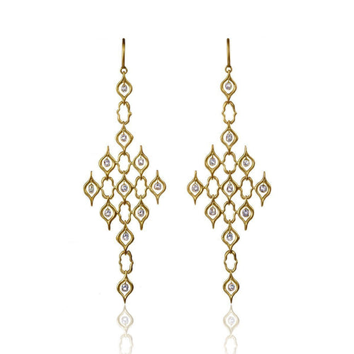 18kt Yellow Gold Anah Weave Pattern Earrings ,[product vendor],JewelStreet