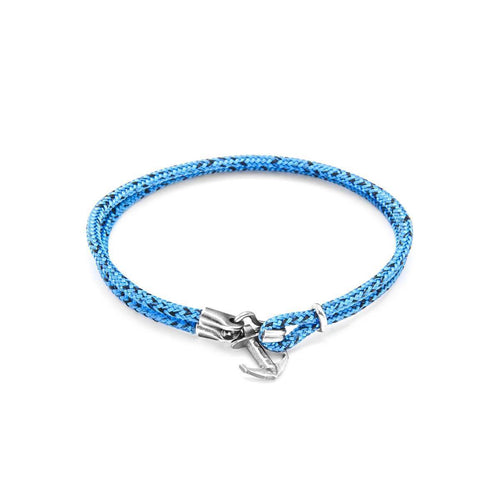 Blue Noir Brighton Silver And Rope Bracelet ,[product vendor],JewelStreet