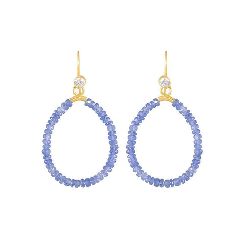 Gold & Sapphire Azur Drop Earrings | juniimjuli ,[product vendor],JewelStreet