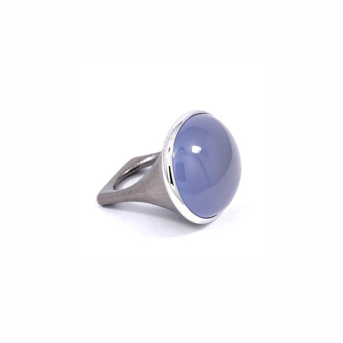 Calcedony Oval Cabochon Ring ,[product vendor],JewelStreet