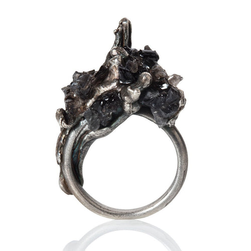 Cascade Ring Obsidian ,[product vendor],JewelStreet