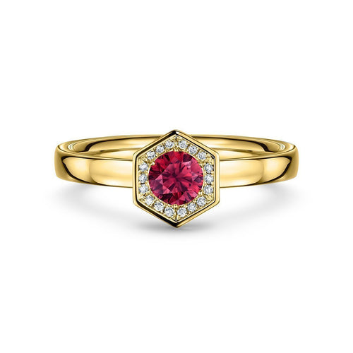 Chapiteau Ruby 33pt Yellow Gold Ring ,[product vendor],JewelStreet