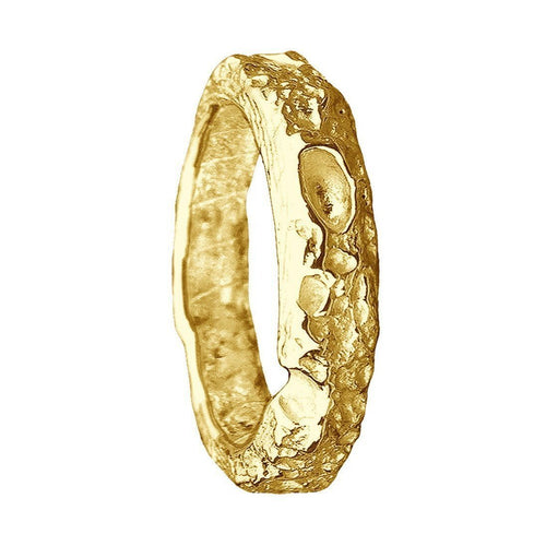 Cornish Beach Sand Textured 18kt Yellow Gold Wedding Ring ,[product vendor],JewelStreet