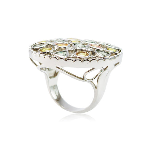 Divine Disarray Round Fancy Sapphire Ring ,[product vendor],JewelStreet