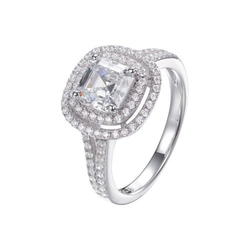 Double Halo Asscher Cut Ring ,[product vendor],JewelStreet