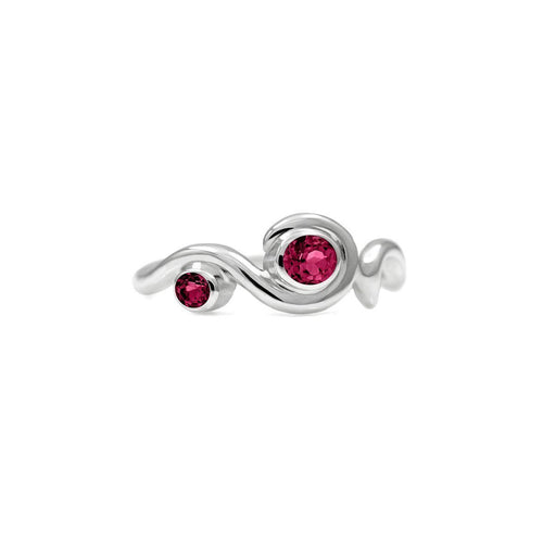 Entwine Two Stone Ring In Silver ,[product vendor],JewelStreet