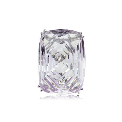 Fire and Ice Fancy-cut Rectangular Cushion Pink Amethyst Ring ,[product vendor],JewelStreet