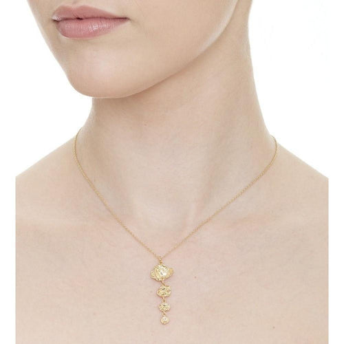 Four Drop Tapered Gold Vermeil Necklace ,[product vendor],JewelStreet