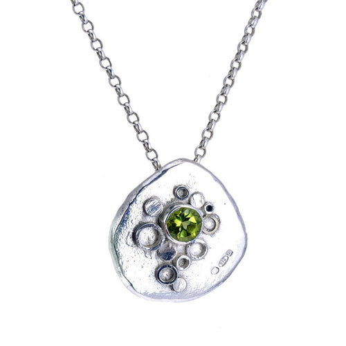 Geode Crystal Pendant With Peridot ,[product vendor],JewelStreet