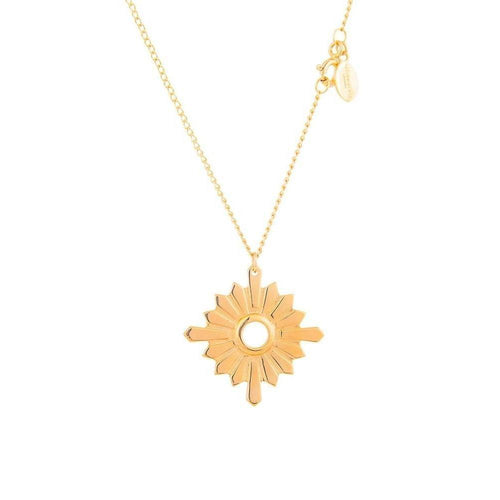Gold Large Sunburst Necklace-Necklaces-Taylor Black-JewelStreet