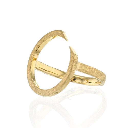 Gold Plated Ring With Circling Top ,[product vendor],JewelStreet