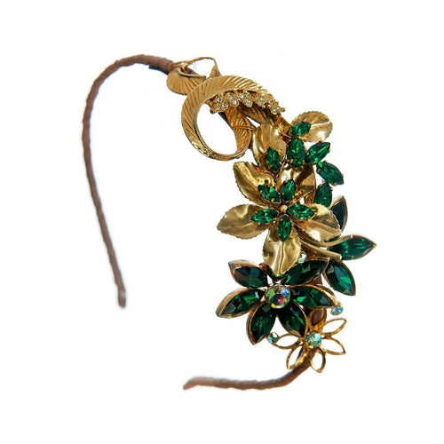 Green Goddess Headpiece-Headpieces-Krausz Jewellery-JewelStreet