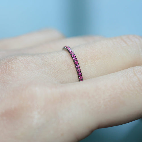 Ruby Full Eternity Ring In 18kt White Gold ,[product vendor],JewelStreet