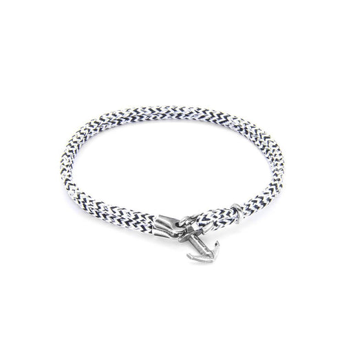 White Noir Brighton Silver And Rope Bracelet ,[product vendor],JewelStreet