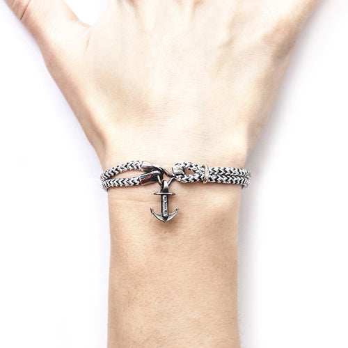 White Noir Brighton Silver And Rope Bracelet-Bracelets-Anchor and Crew-JewelStreet