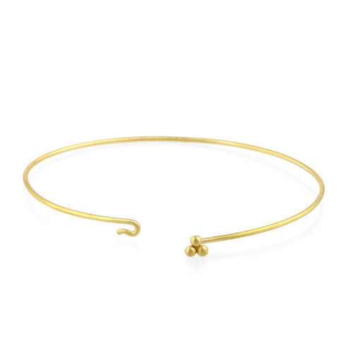 9kt Gold Sulis Small Bead Bangle-Prism Design-JewelStreet EU