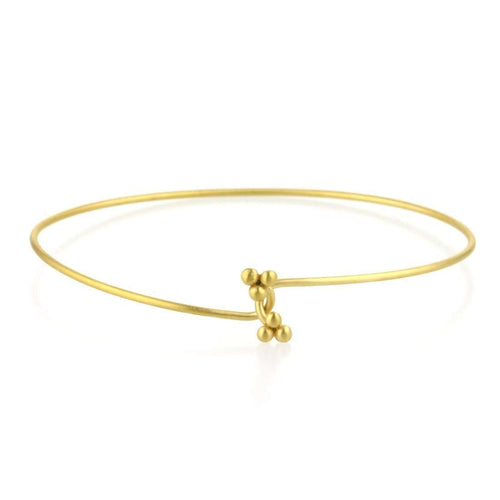 9kt Gold Twist Bangle-Prism Design-JewelStreet EU