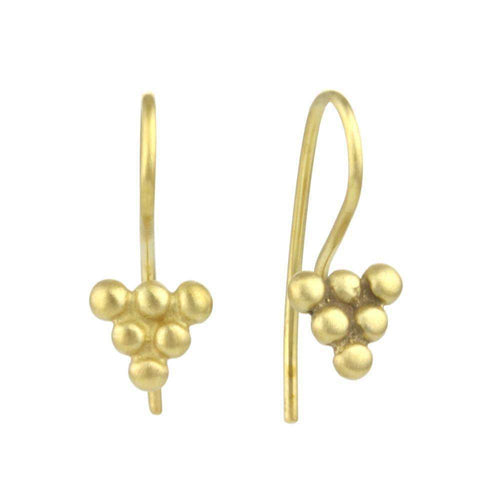 9kt Gold Small Bead Sulis Earrings-Prism Design-JewelStreet EU