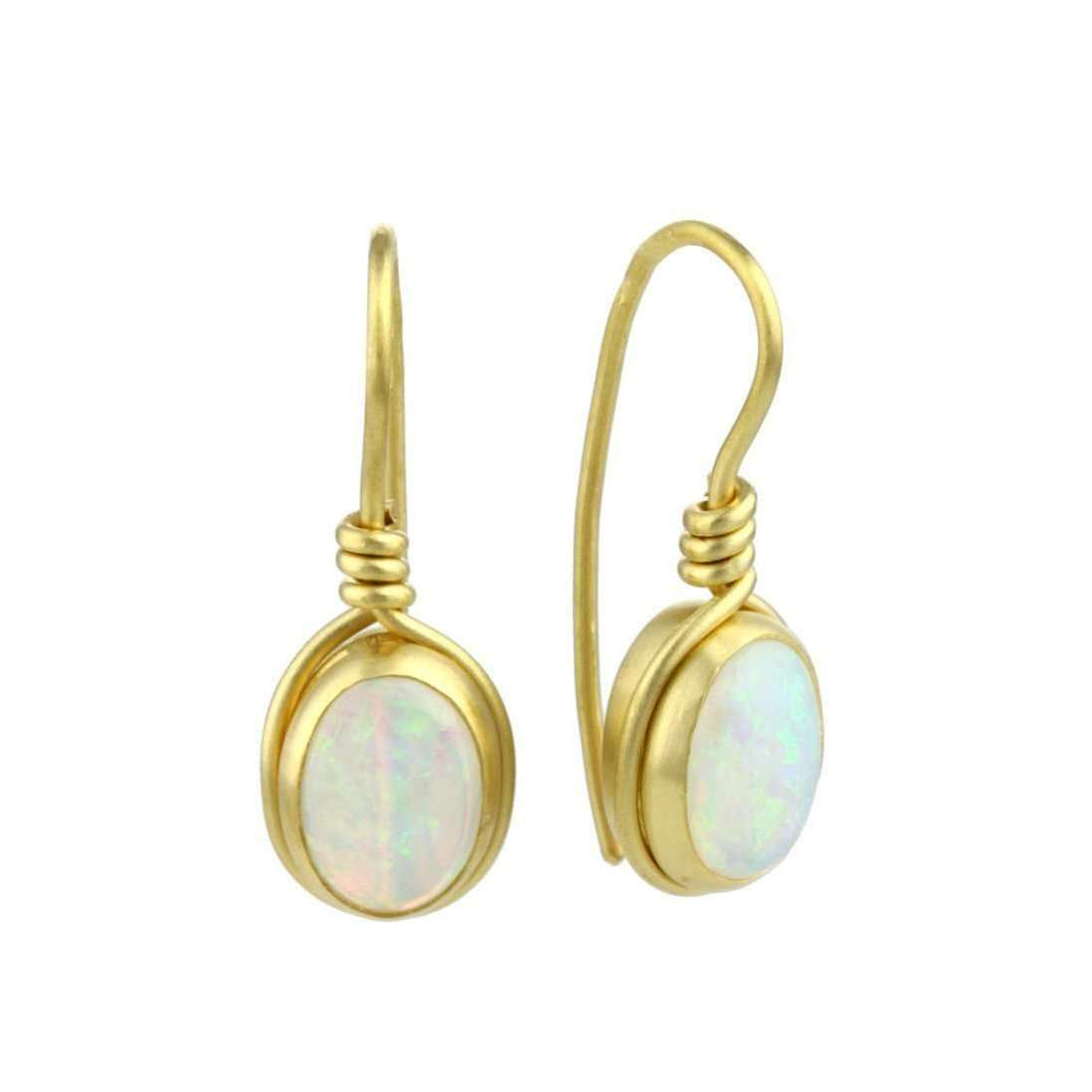 9kt Gold Opal Earrings-Prism Design-JewelStreet EU